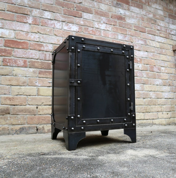 Metal Cabinet Vintage Locker Chest File Night Stand