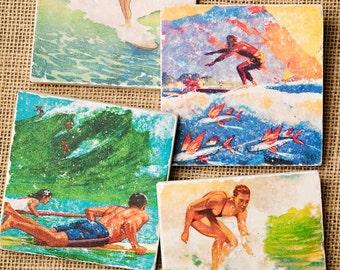 Surfer Gift- Surf Decor, Coaster, Surfer Decor, Surf Gift, Hawaiian Decor, Surf Hawaii, Beach House Decor, Surfing Decor, Beach Decor
