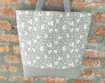 Large size/Baby nursery bag/Diaper Bag/  carry-on Travel bag/diaper bag /mum bag/Shoulder Bag/grey bag/grey canvas