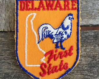 Delaware Vintage Souvenir Travel Patch from Voyager - New In Original Package