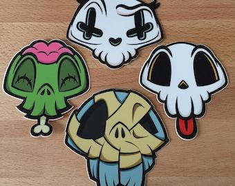 Lil' Skulls 4-pack Sticker Set