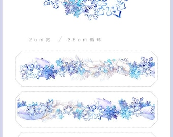 2018 Hot tape making again ! 20mm Washi tape Masking Tape / planner deco tape Snow Feather