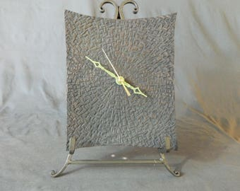 Striking Textured hand turned wall clock