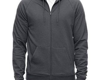 Mens hoodie sweatshirt Sale, American Apparel asphalt- S, M, L- Worldwide shipping