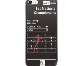 Ohio State Football iPhone Case: 1st National Championship (1969)