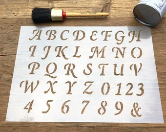 Italic hand calligraphy lowercase letters letter size for