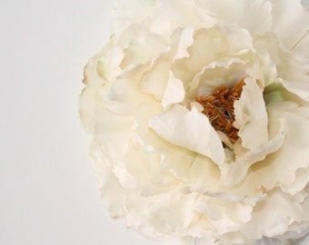 Large Peony in Creamy White - 6 Inches -Artificial Flower, Millinery Flower - ITEM 0387