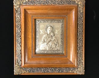 Framed Religious Icon Stamping