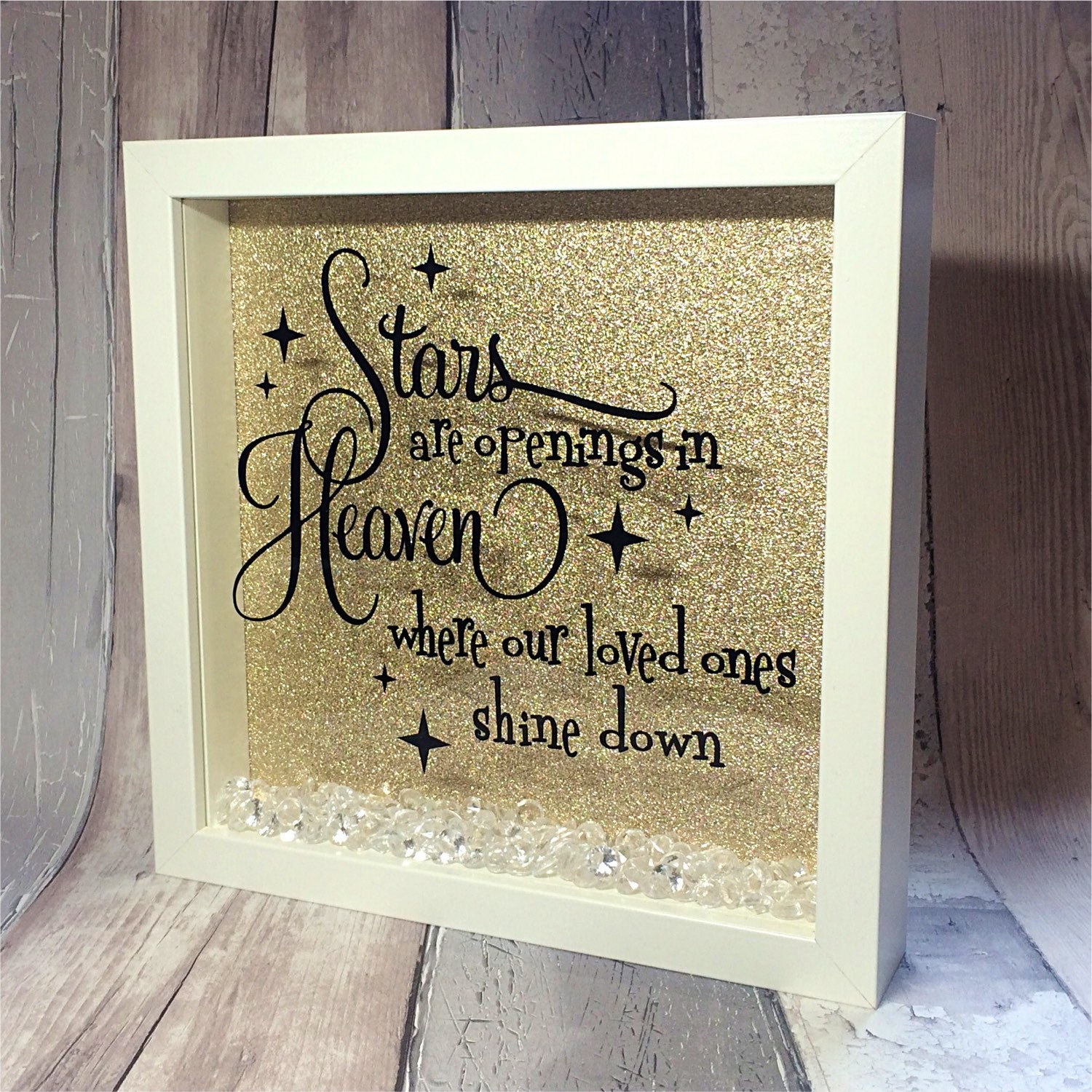 Inspirational quote, in memory of, memorial box, picture box frame ...