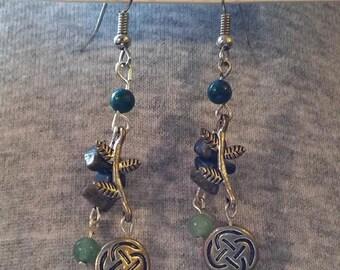 Celtic forest earrings