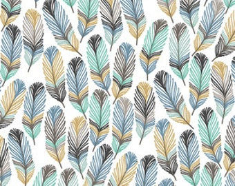Feathers in Aspen Changing Pad Cover