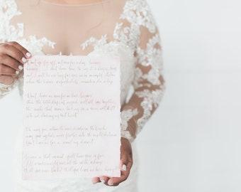 Custom Calligraphy - Calligraphy - Custom Hand Lettering - Custom Quote - Handwritten Quote - Personalized Quote - Handwritten Sign