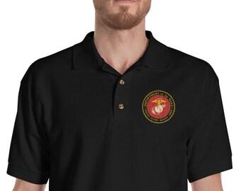 US Marine Corp Embroidered Polo Shirt