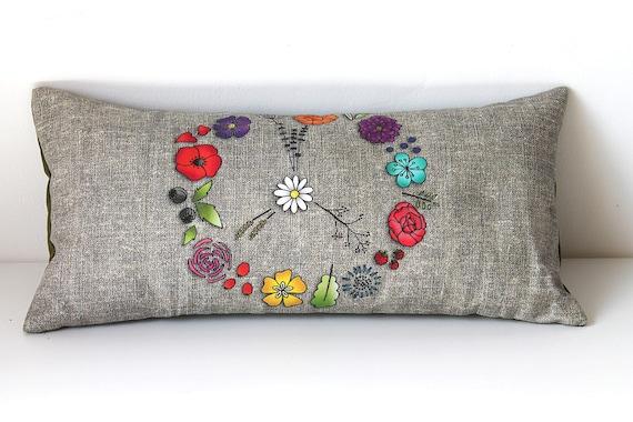 "Cushion for yoga and meditation ""PEACE"""