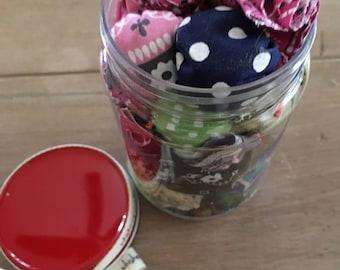 Catnip Toys, Organic Catnip, 20 per Jar, Catnip Toys stored in a plastic Mason Jar