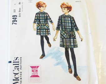 McCall's 7949: Girl's Dress Size 8 CUT, but COMPLETE