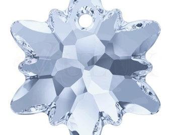 Swarovski 6748 Edelweiss Pendant  28 mm Crystal Blue Shade