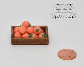 1:12 Dollhouse Miniature Oranges in Crate/ Miniature Fruits/Miniature Farm BD BF004