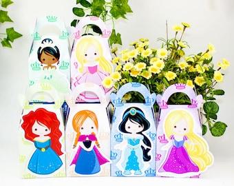 Princess Favor Box Candy Box Gift Box Cupcake Box Boy Kids Birthday Party Supplies Decoration Event Party Supplies