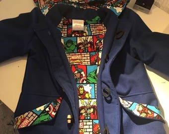 Duffel Coat, Duffle Coat, Hooded Coat, Duffle Jacket, Boys Coat, Toggle Coat, Handmade Boys Coat, Marvel Coat, Kids Coat, Duffel Jacket