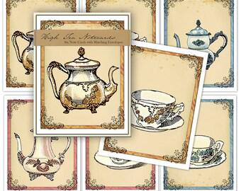 Victorian Tea Blank Note Card Set
