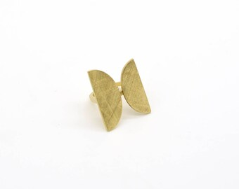 NEW ME Collection - Ring Yellow-Gold Plated Silver, contemporary urban