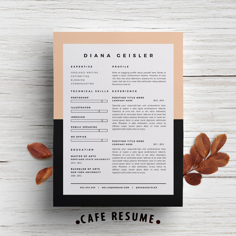 Creative Resume Template Cover Letter Template For Word