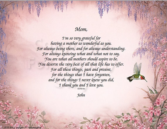 Super Poem for Mothers // Mother's Day Poem // Mothers Gift idea #MO48