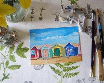Original beach hut painting