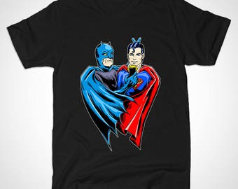 Super Selfie tshirt - Batman and Superman inspired selfie design