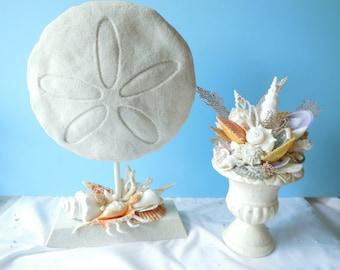 Spectacular Sand Dollar Statue- Coastal Home Decor-Beach Decor-Seashell Art-Sand Dollar Sculpture