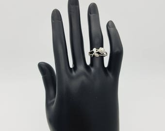 Vintage Avon Sterling Silver Rose Ring - Size 5