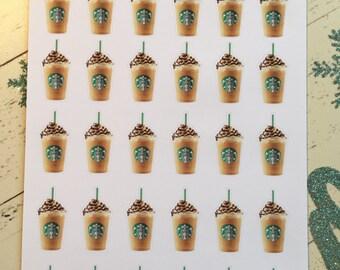 Watercolor Coffee Frappuccino
