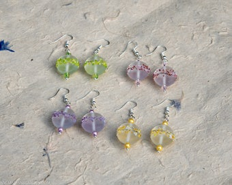 Glass lampwork bead earrings