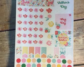 June Date Stickers