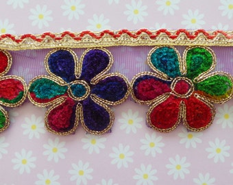 Indian Colourful Flowers Trim