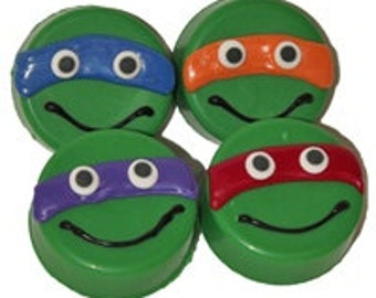 12 Teenage Mutant Ninja Turtle Birthday Party Chocolate Covered Oreos