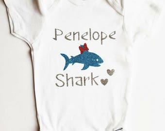 Baby shark bodysuit. Shark week shirt. Kids shark shirt. Baby shark. Oneise. Custom shark bodysuit. Baby shark Oneise