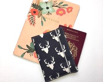 Passport Cover, Travel Organizer, Travel Wallet, Passport Holder, Passport Wallet, Gift for Traveler - Buck Forest Twilight