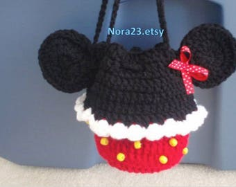 crochet minnie mouse purse PATTERN INSTRUCTIONS. easy. pdf Instant download pattern