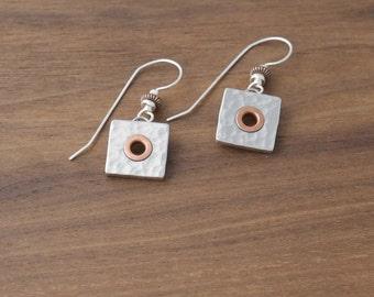 Copper Rivet Earrings