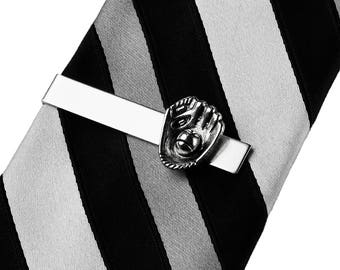 Baseball Glove Tie Clip