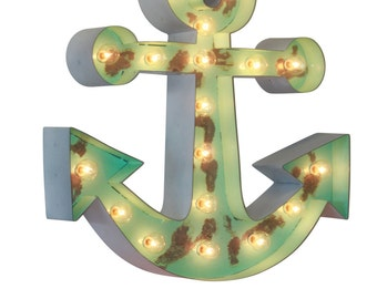 """18"""" Old Vintage Style Marquee Anchor Metal Steel"""