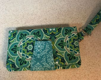 Ladies clutch with wristlet