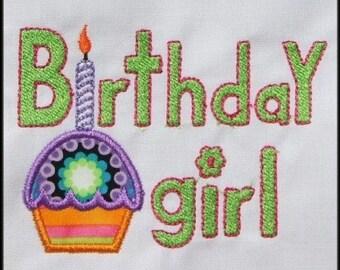 INSTANT DOWNLOAD Birthday Girl Applique designs 4x4 hoop