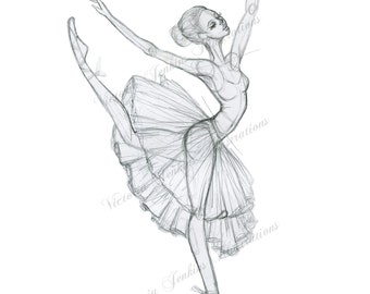 Ballerina Print (illustration print)
