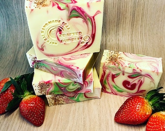 Wild Strawberries Natural Cold Process Soap
