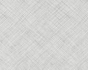Architextures Crosshatch in Grey, Carolyn Friedlander, Robert Kaufman Fabrics, 100% Cotton Fabric, AFR-13503-12 GREY