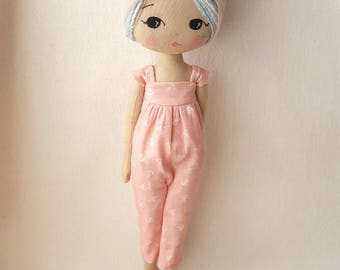 Land Girl Romper and Head Scarf pdf Pattern for Sparkle Starlet Doll
