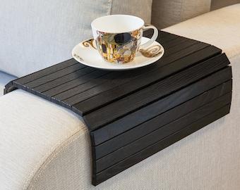 Sofa Tray Table BLACK, tray table sofa arm table ottoman tray wooden tray ottoman wooden trays couch table small spaces sofa arm tray